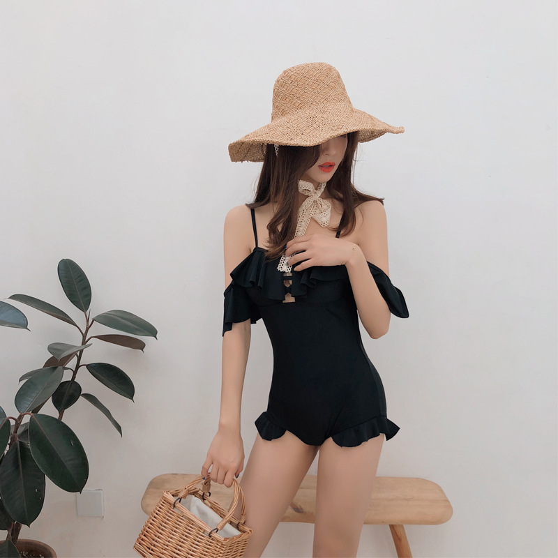 2 Piece Swimsuit Women Tankini Swimsuits High Waist Bikini Beach Ladies Black Swimwear With Skirt May Two-Piece Sports New 2019