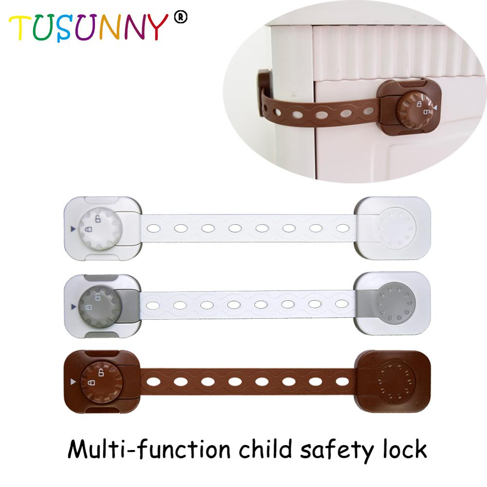 TUSUNNY 3PCS  New Multi-functional Design Adjustable Safety Lock Drawer Cupboard Latches