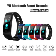 Y5 Smart Bracelet Bluetooth Smartband Fitness Tracker Blood Pressure Heart Rate Monitor Wristwatch Smart Watch Men Color Screen