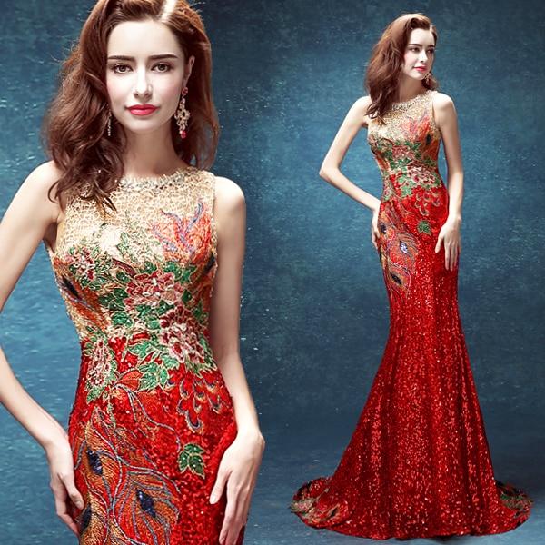 4334777550d Русалка блесток вышивка Кристалл пикантные Длинные вечерние красные платья  2018 новый дизайн вечерние платье OS80