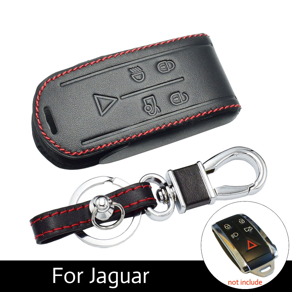 Genuine Leather Car Key Case Protection Cover Bag For Jaguar XK XF XJ8 XK8 XRR 2007-2011 2012 2013 Remote Skin Holder ProtectorGenuine Leather Car Key Case Protection Cover Bag For Jaguar XK XF XJ8 XK8 XRR 2007-2011 2012 2013 Remote Skin Holder Protector