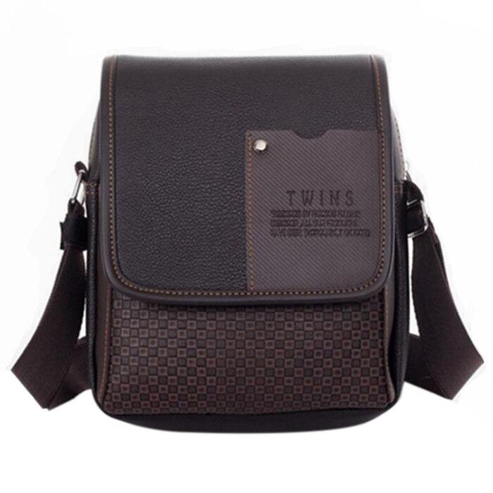 AFBC Pu Leather Men Messenger Bag Briefcase shoulder crossbody handbag business bag casual mens travel bag