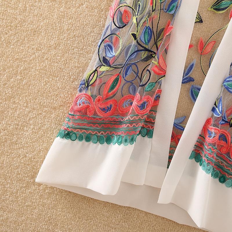 HTB1DgmjsnlYBeNjSszcq6zwhFXa5 New Women Floral Embroidered Long Jacket Summer Net Cardigan Casual Long Sleeved Thin Coats Ladies Vintage Beach White Outerwear