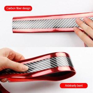 Image 3 - 3D voiture autocollant Fiber de carbone caoutchouc autocollants universels Anti collision protecteurs voitures porte décoration extérieur Auto accessoires