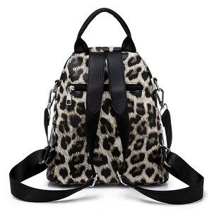 Image 3 - Wzór lamparta plecak torba dla kobiet 2020 Fashion School Book plecak dla nastolatka dziewczyna codzienny wypoczynek plecak podróżny Packbag