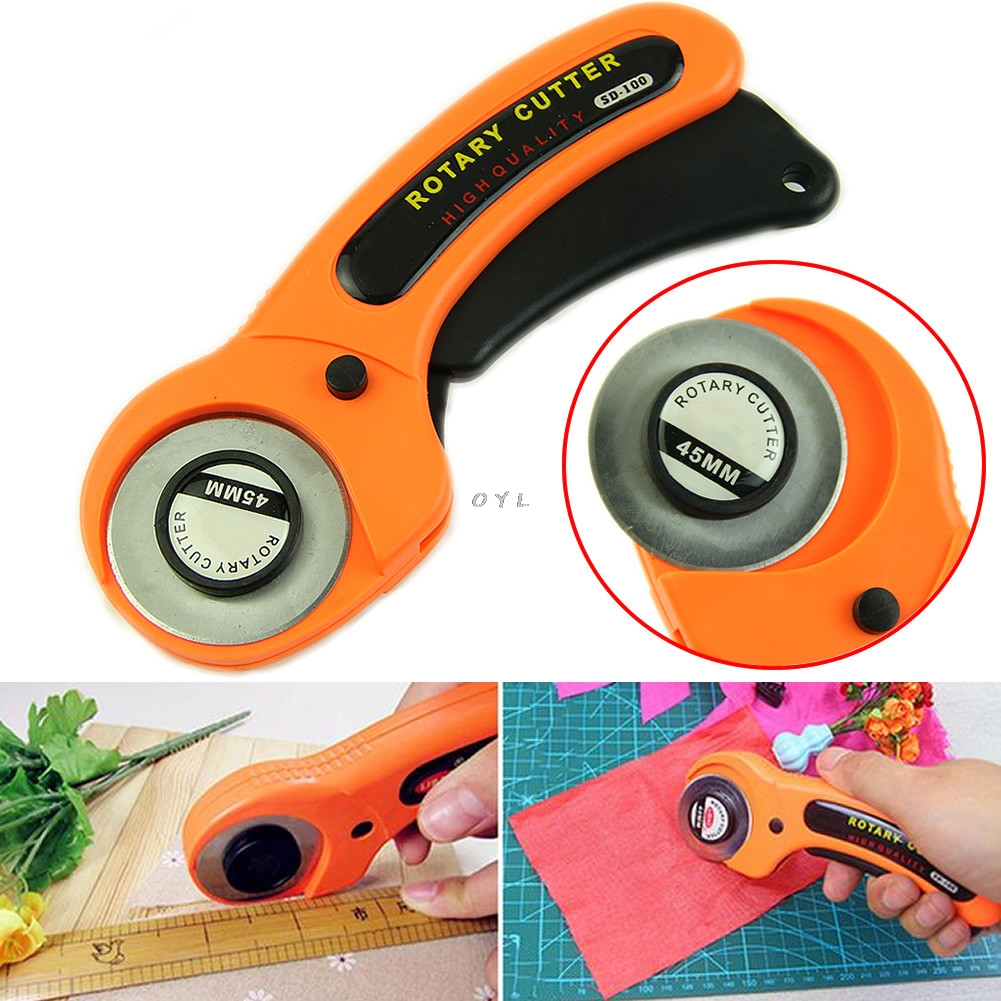 New 45mm Cutter Quilters Premium Sewing Quilting Fabric Cutting Craft Tool  For Home, Office, School