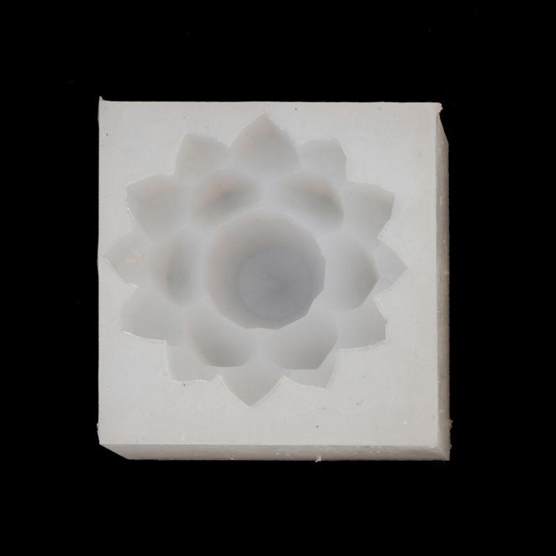 Lotus Flower Magic Wand Pendant Mold Epoxy Resin Casting Diy Jewelry