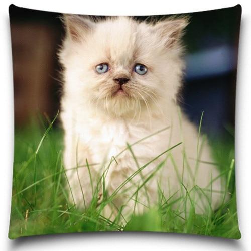 고양이 패턴 베개 케이스 크리스마스 선물 폴리 에스테르면 의자 좌석 허리 광장 장식 크기 사용자 정의 가능