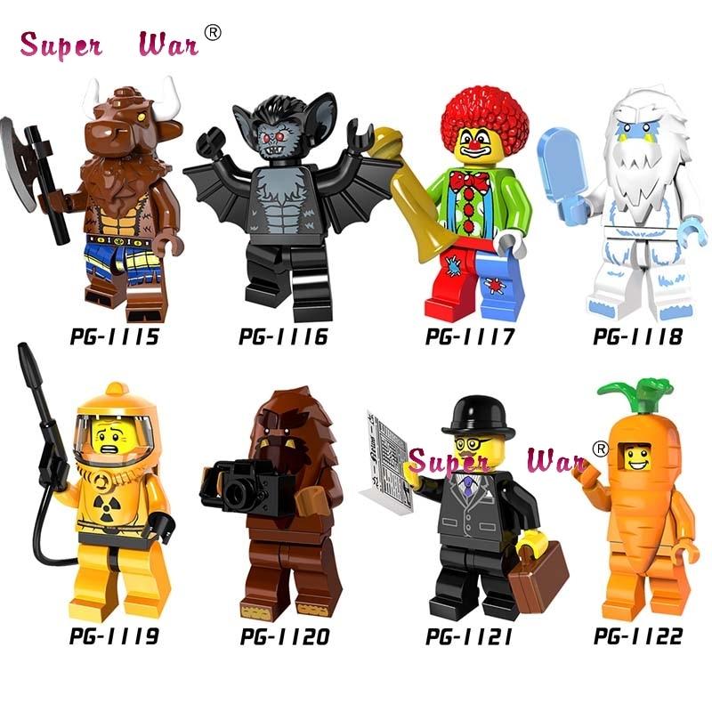 20pcs star wars Businessman Vampire Batman Yeti Carrot Man Bigfoot Collection Series building blocks bricks models classic toys