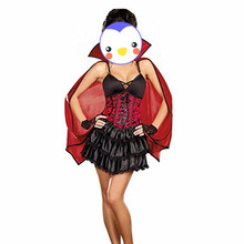 Hot Gothic Sexy Costume Halloween Dress Costume Sexy Witch Vampire Costume Women Masquerade Party Halloween Cosplay