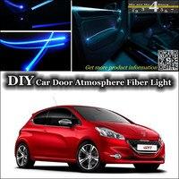 interior Ambient Light Tuning Atmosphere Fiber Optic Band Lights For Peugeot 208 307 306 308 301 Inside Door Panel illumination