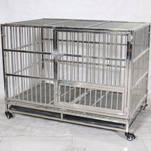 2019 New reinforcement stainless steel folding dog cage with sunroof tray complete specifications