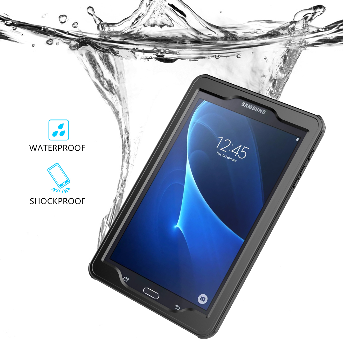 timeless design f56f8 15dc5 CASEWIN Tablets Cases For Samsung Galaxy Tab A6 10.1 Waterproof Tablet Case  Shockproof Dust Proof Protective Cover Cases