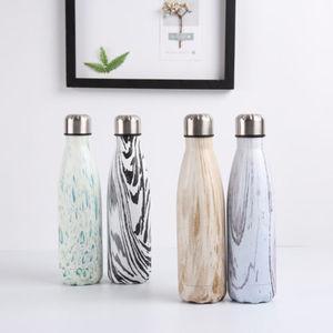 500 мл бутылка для воды термос с вакуумной изоляцией термальная Спортивная холодная чашка из нержавеющей стали креативная кружка с мраморной головкой