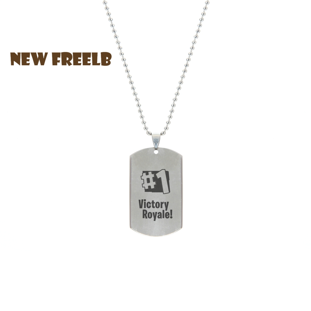 Hot FPS Game Fortnite Battle Royale #1 Victory Rayale! Necklace Stainless Steel Fashion Inspired Jewelry for fans Laser Printing