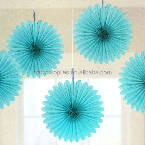 free shipping 100pcs 8inch 20cm paper fan tissue paper honeycomb fan paper crafts assorted colors - Tissue Paper Decorations