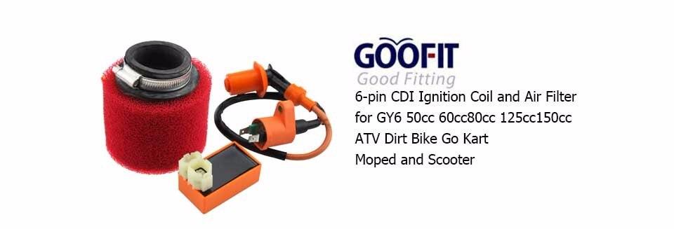 2pcs 44mm Air Filter Cleaner For 50cc-150cc Qued ATV Dirt Bike Go Kart Moped