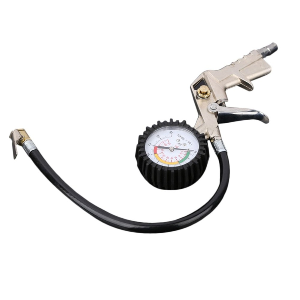 Cimiva Car Digital Tire Pressure Gauge Manometer Tester Air Inflator with Flexible Hose for Cars Trucks