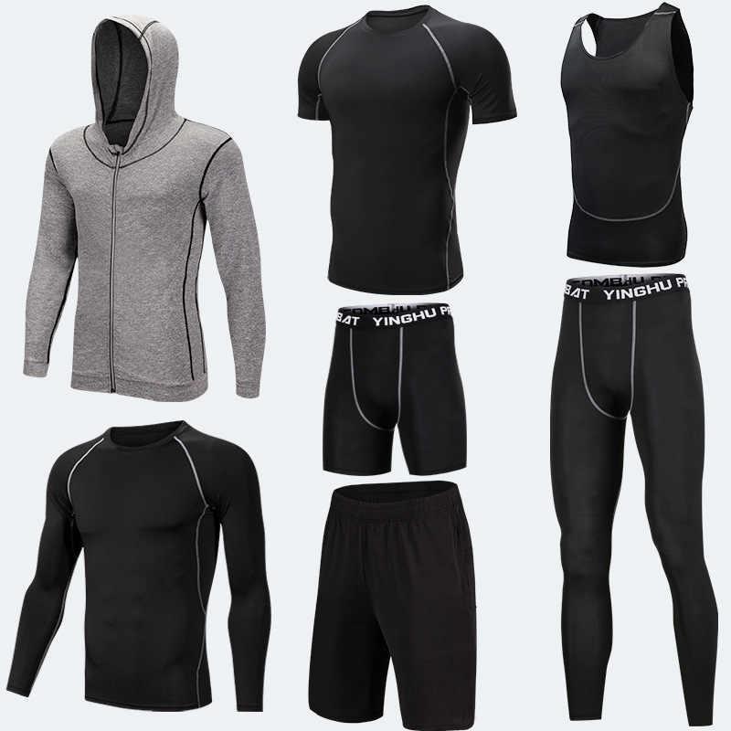 5 Buah/Set Pria Pakaian Latihan Yg Hangat Celana Ketat Olahraga Perapi Gym Kebugaran Kompresi Pakaian Menjalankan Jogging Pakaian Olahraga Latihan Latihan Celana Ketat