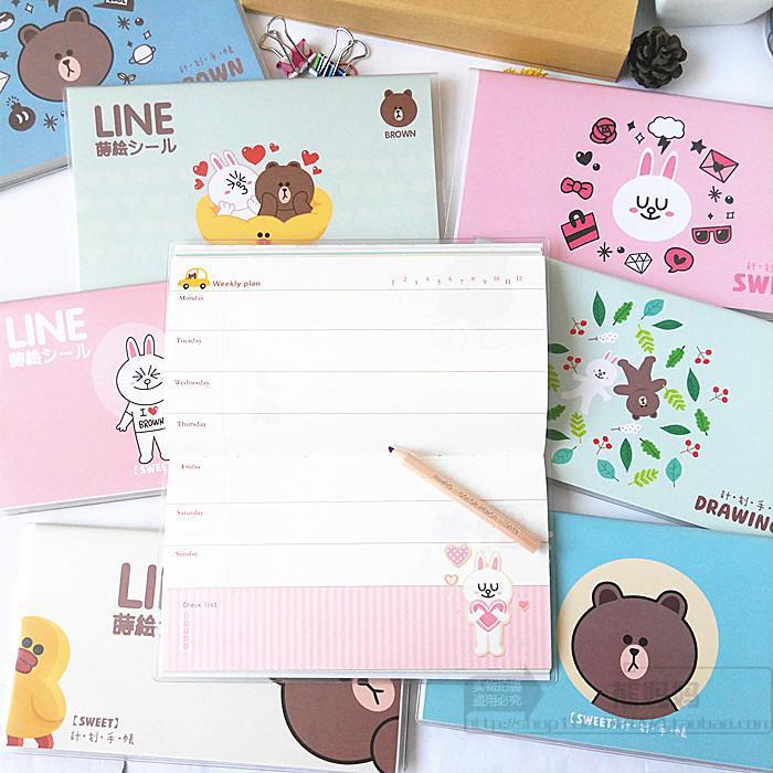 2pcs lot totoro weekly planner 2019 cute week planner daily planner