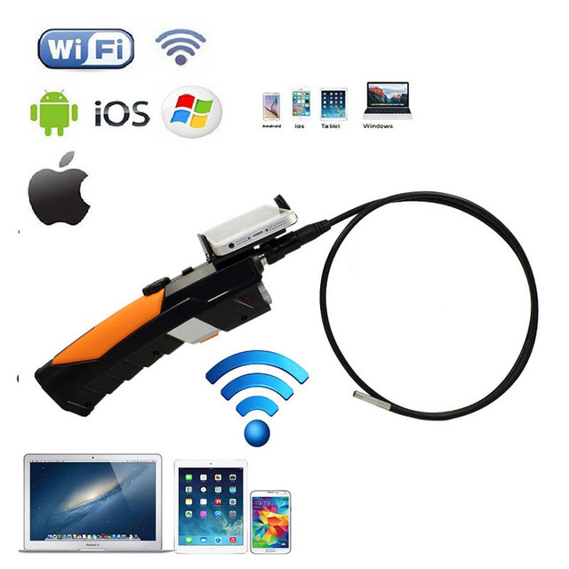 Handheld 720P 2.0MP WiFi 8.5mm 1m Endoscope LED Camera For iPhone Android PC
