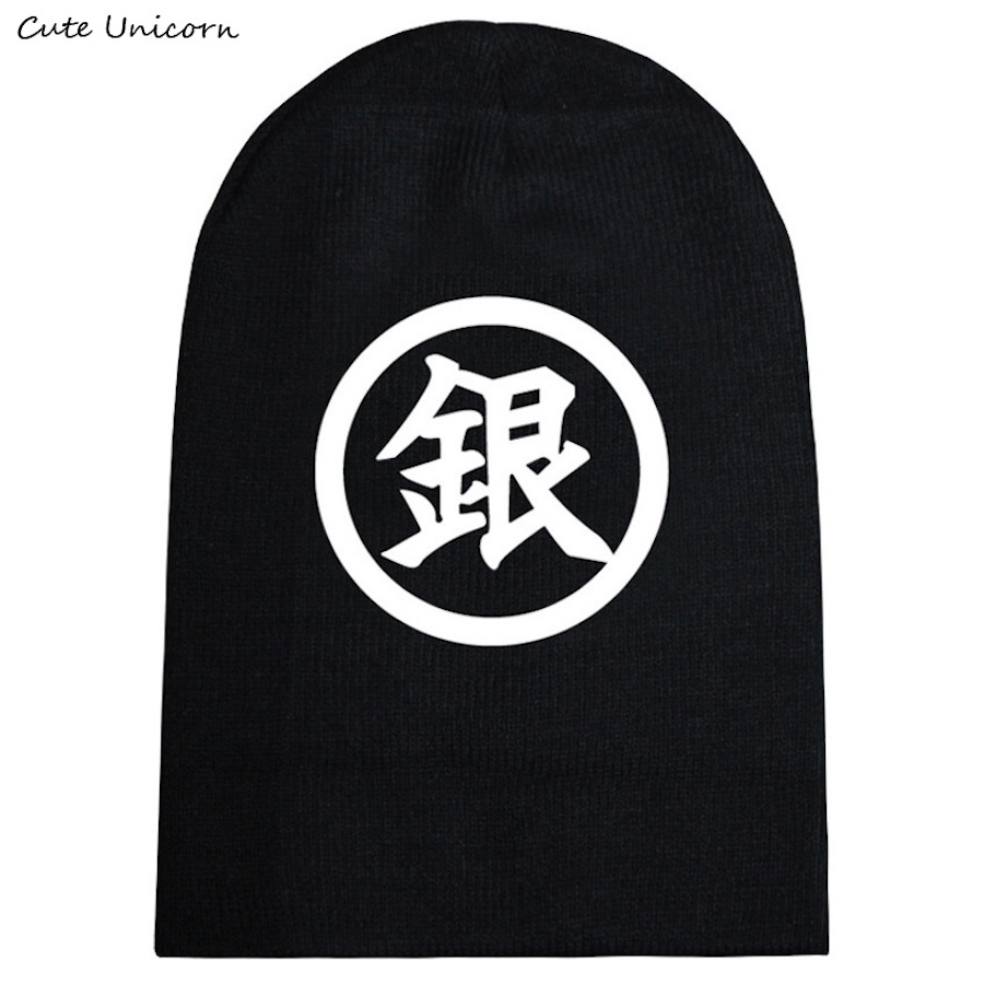 Gintama autumn winter hat beanies unisex knitted cap casual hats for women hip hop Skullies anime beanie female gorro