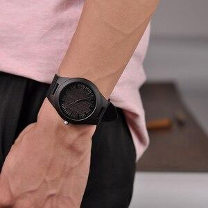 Image 5 - BOBO BIRD montres bracelet à gravure, pour hommes, cadeaux de famille pour fils papa maman, hommes et femmes, avec un logo gravé pour petit ami, D26