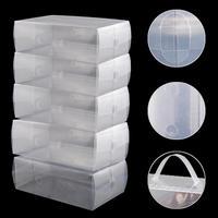 5 x En Plastique Transparent Mens Chaussures Boîtes De Rangement Des Conteneurs
