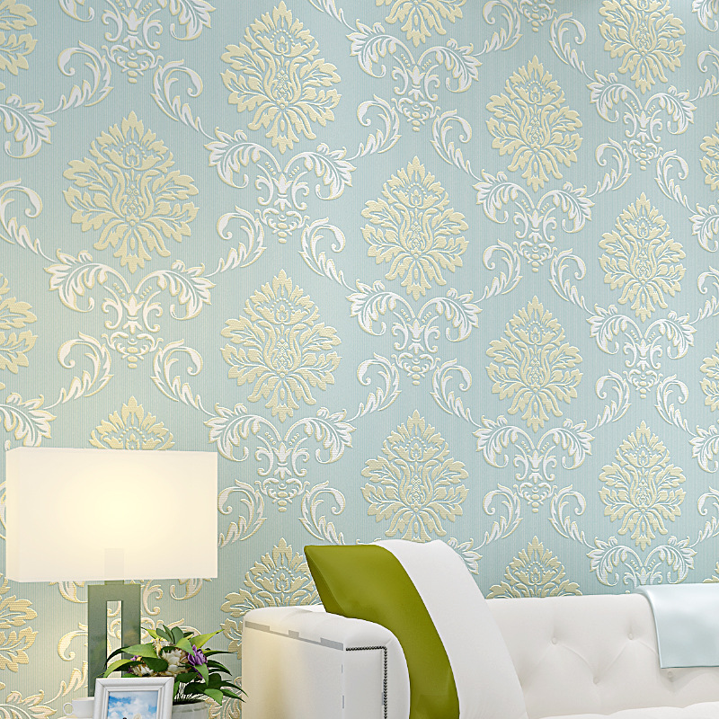 beibehang embossed Damascus non woven wall paper roll modern designer papel de parede 3D wall covering wallpaper for living room beibehang wall paper pune girl room cartoon children s room bedroom shop for environmental non woven wallpaper ocean mermaid