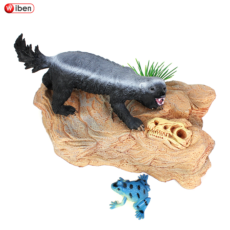 Enthusiastic Wiben Honey Badger Ratel Plastic Simulation Animal Model Action & Toy Figures Learning & Educational Birthday Gift Kids For Sale