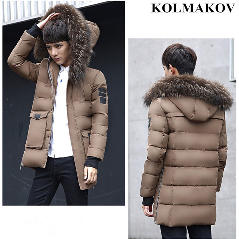 New Men's Winter   Coats   2018 90% Duck   Down   Jackets Masculino Long Thick Windbreakers Homme Good Quality Hooded   Coats   Male M-3XL