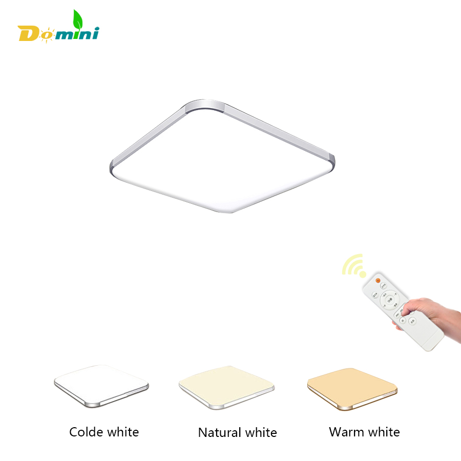 Domini Interior Ceiling Light 15W24W 3 Color Modern Family Ceiling Light Square Chandelier Bedroom Living Room