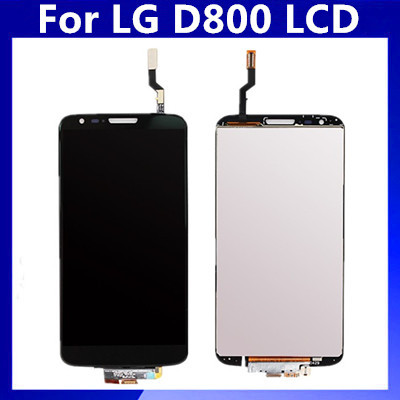 ФОТО For LG G2 D800 D801 D803 LCD Display with Touch Screen Digitizer Assembly Black Color Free Shipping