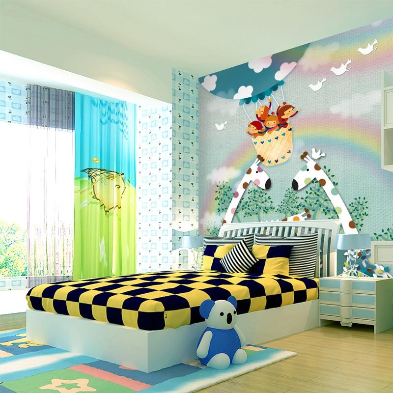 Custom wallpaper murals,cartoon cute children for kids ...
