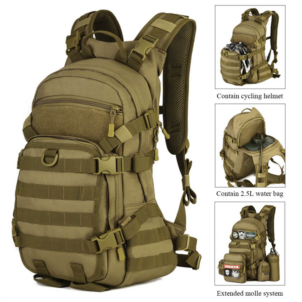 Protector Plus Escalade Randonnée Sac À Dos Militaire Sac À Dos 25L Sac À Dos Plein Air Camping Sac À Dos Étanche Sac Caractéristiques:-M