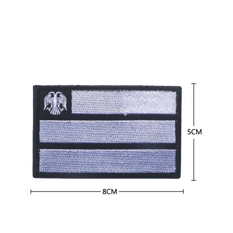 ロシアの旗パッチ 3D ロシアテレビファスナー軍事ロゴ戦術バトルスーツデカール刺繍ストライプ刺繍パッチ 1 ピース