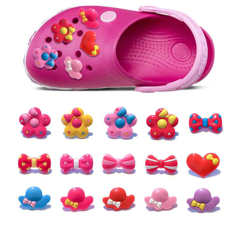 Furniture Accessories 120pcs Small Flowers Pvc Shoe Buckles Shoe Charms Fit Croc For Shoes&wristbands With Holes Furniture Accessories Kids Party Gift