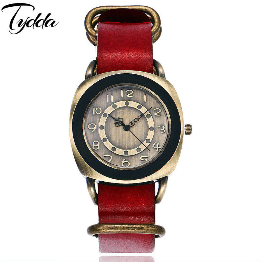 Tydda merk damesmode creatieve lederen armband horloges casual - Dameshorloges - Foto 2