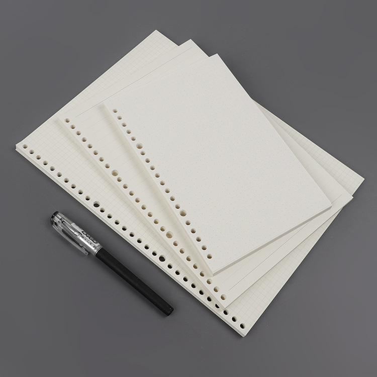 MaoTu 90 Sheets/Pack Loose Leaf Filler Paper A4 for Spiral Notebook Refills Ring Binder 4/30-Hole Dot Grid Ruled School Notebook standerd notebook a4 inside page spiral sketch 60 sheets 9 hole filler paper blank white and kraft paper and school supplies
