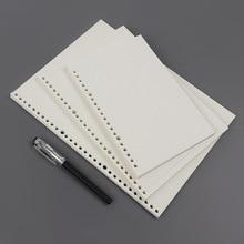 MaoTu 90 fogli/pacco carta di riempimento a fogli mobili A4 per ricariche per quaderno a spirale raccoglitore ad anelli quaderno scolastico a griglia a 4/30 fori
