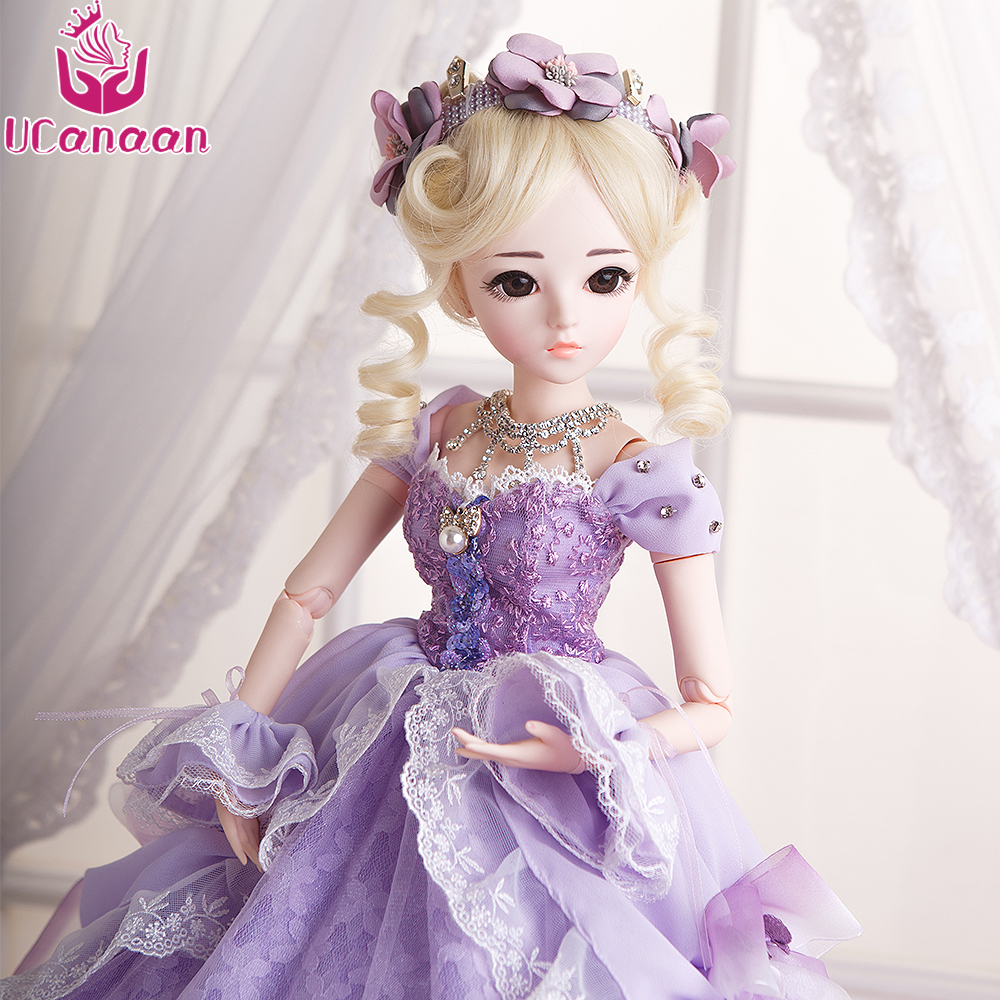 UCanaan BJD Doll SD Dolls 18 Joints Body Beauty Handmade Clothes Shoes Wig&Makeup Princess Dolls Toys for Girls 60CM цена