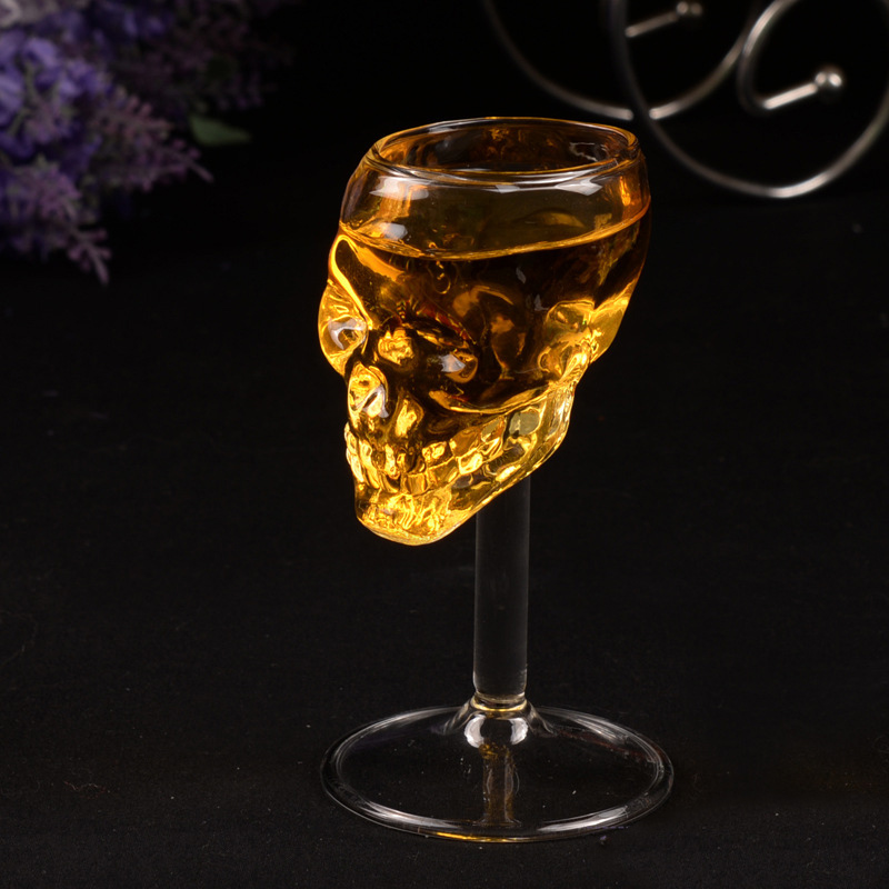 55ml Skull Glass Cup Head Vodka Beer Wine Drinking Ware Home Bar Party Gift Artware Decoration Transparents Clear Cups