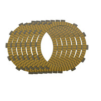 Motorcycle Clutch Friction Plates Set For Kawasaki ZZR400 ZRX400 KLE 400 500 Clutch Lining CP 0009