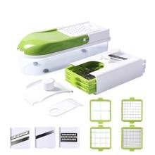 Cortadora de verduras multifunción con 8 cuchillas para dicar, pelador de zanahorias Manual, rallador, herramientas de cocina, cortador de verduras