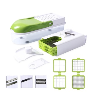 Image 1 - Multifunction Vegetable Slicer with 8 Dicing Blades Manual Potato Peeler Carrot Grater Dicer Kitchen Tools  Vegetable Cutter