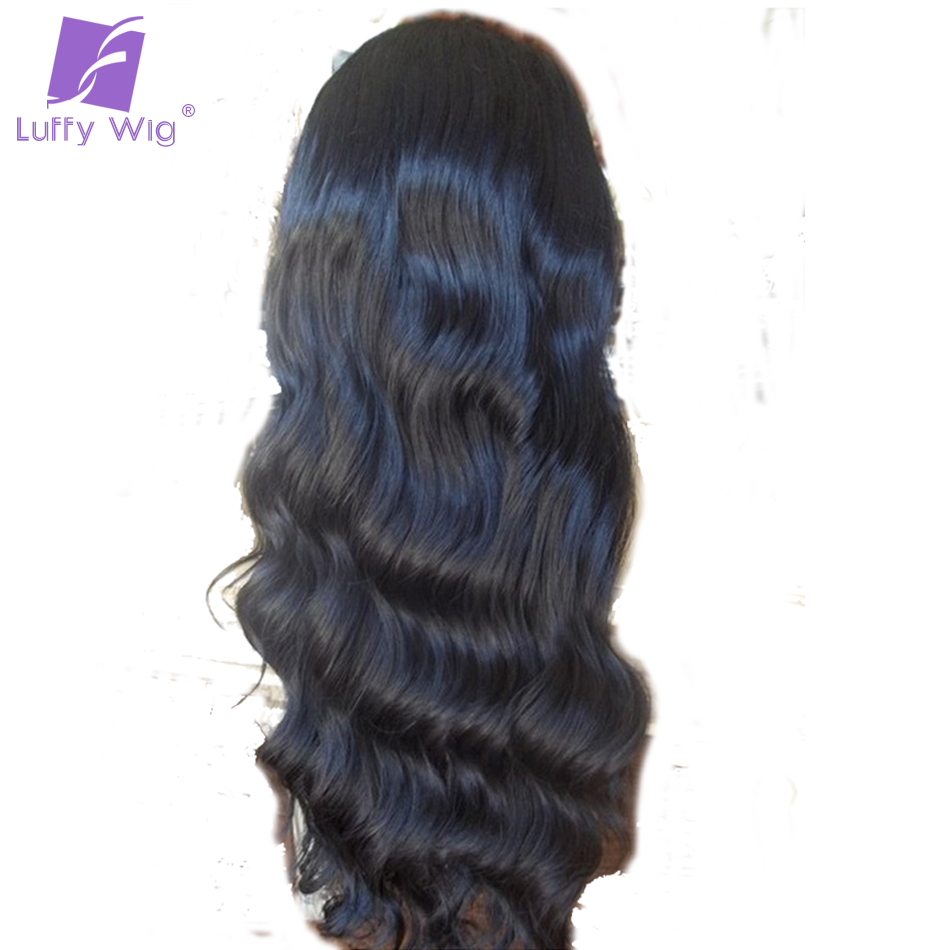 Luffy Body Wave 13*6 Glueless Human Hair Lace Front Wigs Black Women Brazilian Non Remy Hair With Baby Hair Natural Hairline