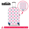 Dispalang Elastic Luggage Cover Pink Style Travel Luggage Protective Cover Apply to 18-30 Inch Trolley Case Girls Suitcase Cover