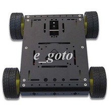 Noir 4WD Dur Aluminium Mobile Robot Châssis De Voiture pour Arduino Plate-Forme
