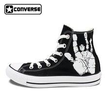 Для мужчин Для женщин Converse All Star Череп Розы пользовательские оригинальные Дизайн ручной росписью обувь женщина человек тапки подарки на день рождения