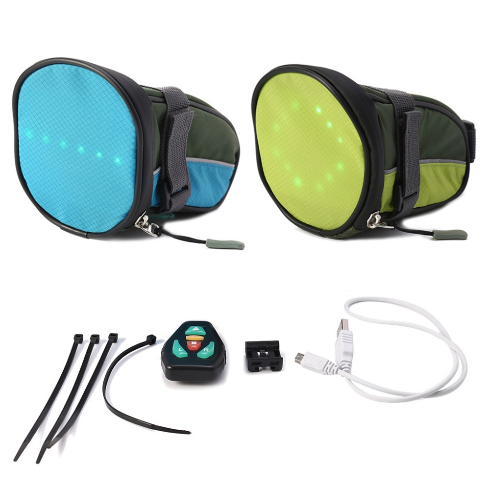 Cycling Special Section Led Wireless Cycling Vest Safety Led Turn Signal Light Bike Bag Safety Turn Signal Light Vest Bicycle Reflective Warning Vests Bicycle Light